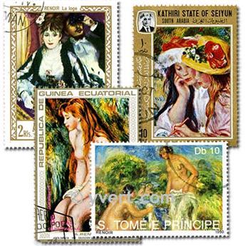 RENOIR: lote de 25 selos