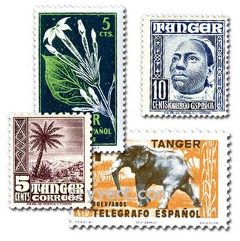 TÁNGER: lote de 25 sellos