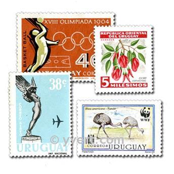 URUGUAY  : pochette de 500 timbres
