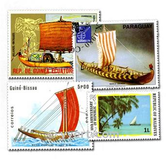 SAILING BOATS: envelope of 500 stamps