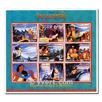DISNEY : pochette de 200 timbres