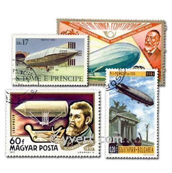 GLOBO DIRIGIBLE: lote de 100 sellos