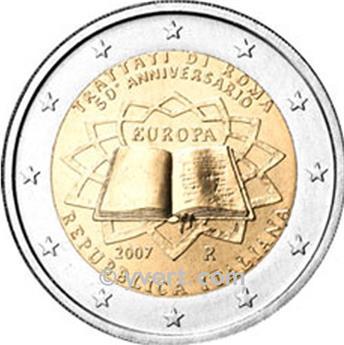 2 EUROS COMEMORATIVAS 2007: Itália (Tratado de Roma)
