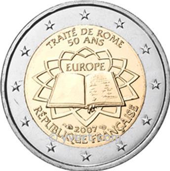 2 EURO COMMEMORATIVE 2007 : FRANCE (Traité de Rome)