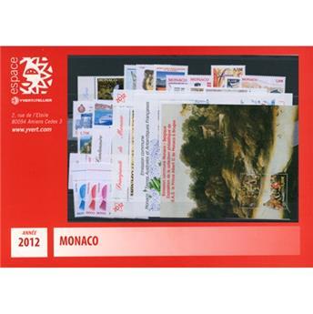 n° 2809/2857 - Timbre Monaco Année complète (2012)