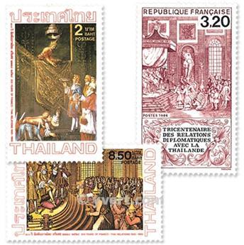 1986 - Emissão conjunta-França-Tailândia