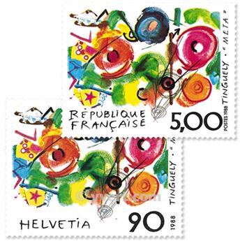 1988 - Emissão conjunta-França-Suíça