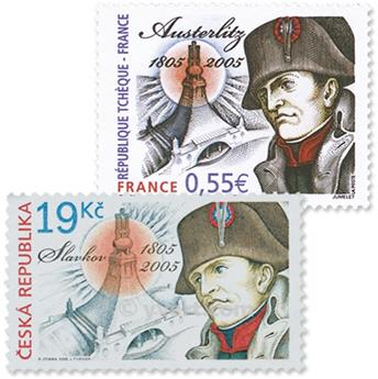 2005 - Joint issue-France-Czech-Republic-(mounts)