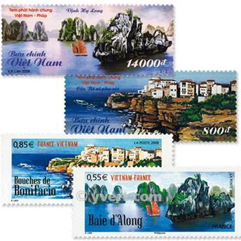 2008 - Emisiones comunes - Francia - Vietnam (Fundas)