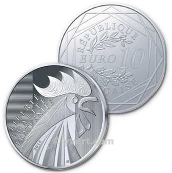 BE : 10 EUROS ARGENT - FRANCE 2014 - LE COQ