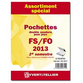 Assortiment de pochettes (double soudure) : 2013-2e semestre