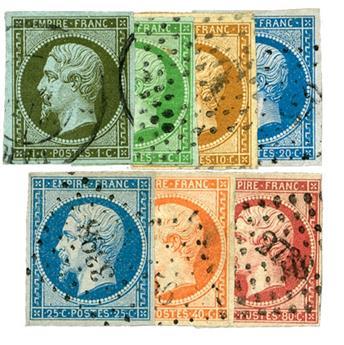 n° 11/12/13A/14A/15/16/17B obl. - Empire Non dentelé