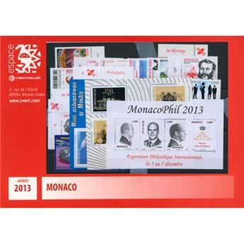 n° 2858/F2903 - Timbre Monaco Année complète (2013)
