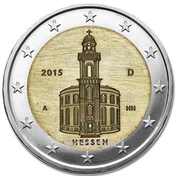 2 euros commemoratifs 2015 allemagne 1 pi ce yvert et tellier philat lie et numismatique. Black Bedroom Furniture Sets. Home Design Ideas