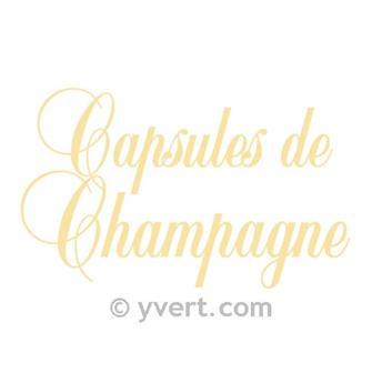 Etiqueta «Capsules de Champagne» Modelo DORADO