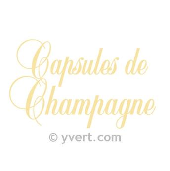 LABEL CHAMPAGNE CAP IN GOLD