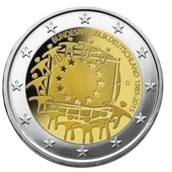 €2 COMMEMORATIVE COIN 2015 : GERMANY D (30th BIRTHDAY OF THE EUROPEAN FLAG)
