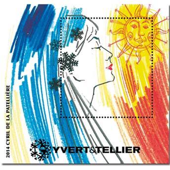 n° 7 -  Timbre France Bloc Yvert et Tellier (LA PATELLIERE)