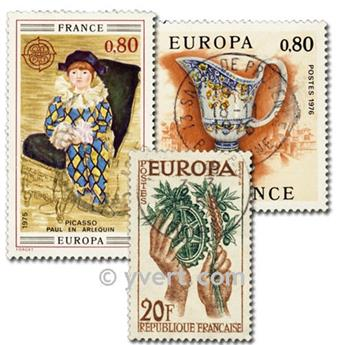 FRANCE EUROPA: envelope of 25 stamps