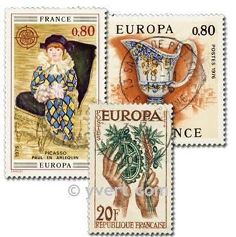 FRANCE EUROPA: envelope of 25 stamps