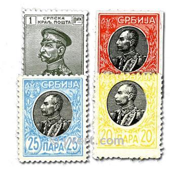 SERBIA: lote de 50 sellos
