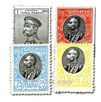 SERBIE : pochette de 50 timbres