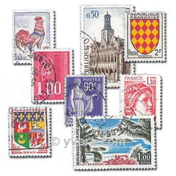 FRANCE: envelope of 1500 stamps
