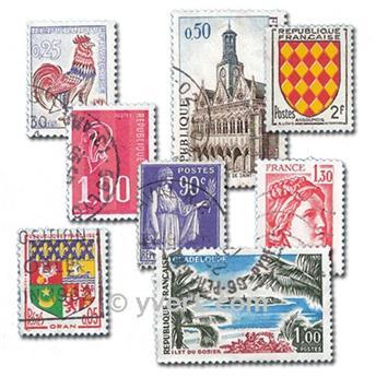 FRANCE : pochette de 1500 timbres