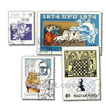 MONDE ENTIER : pochette de 2000 timbres