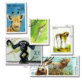 ANIMALES: lote de 100 sellos