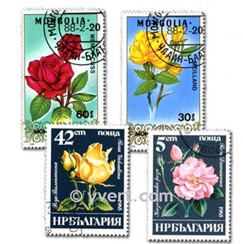 FLORA: envelope of 100 stamps