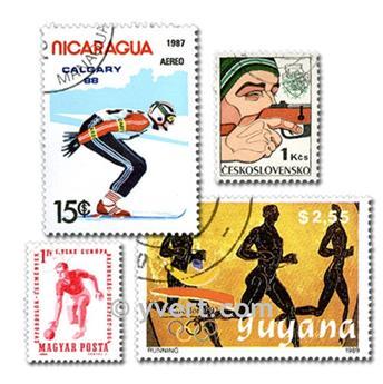 SPORTS : pochette de 100 timbres