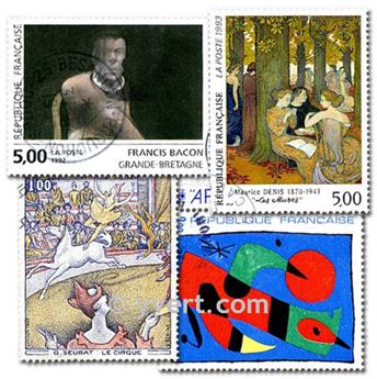 PAINTINGS: envelope of 500 stamps