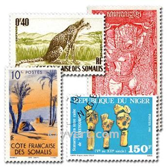 COMUNIDADE FRANCESA: lote de 1000 selos
