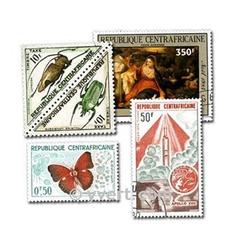REPÚBLICA CENTROAFRICANA: lote de 50 sellos