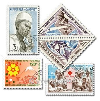 DAHOMEY: lote de 100 sellos