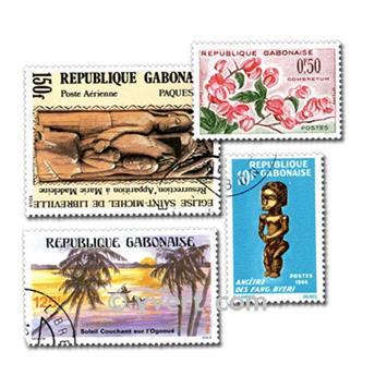 GABON : pochette de 50 timbres