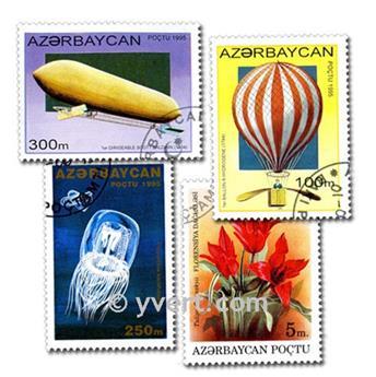AZERBAIJAN: envelope of 100 stamps