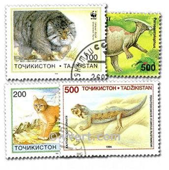 TAJIKISTAN: envelope of 25 stamps