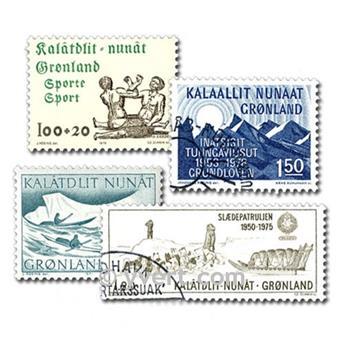 GROENLANDIA: lote de 25 sellos