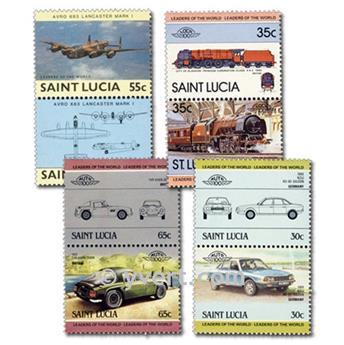 SANTA LUCÍA: lote de 25 sellos