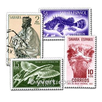 SÁHARA ESPAÑOL: lote de 50 sellos