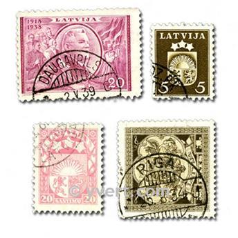 LETTONIE : pochette de 25 timbres