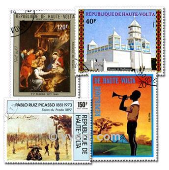 ALTO VOLTA FRANCÉS: lote de 100 sellos