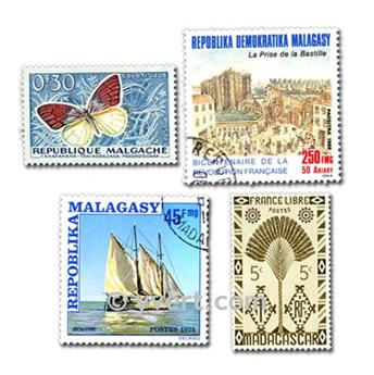 MADAGASCAR: envelope of 100 stamps
