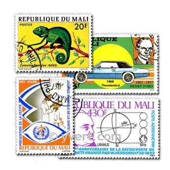 MALI: envelope of 300 stamps