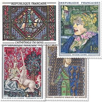 n.o 1424 / 1427 -  Sello Francia Correos