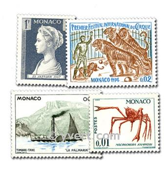 MONACO: envelope of 50 stamps
