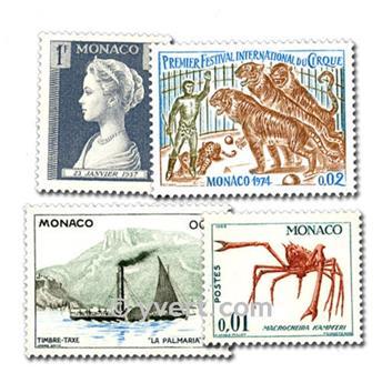 MONACO : pochette de 50 timbres
