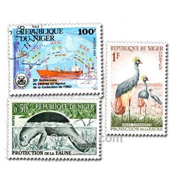 NÍGER: lote de 50 sellos